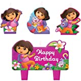 Dora the Explorer Mini Molded Cake Candles 4ct [Toy]