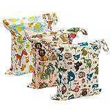 Biubee 3 Pack Wet Dry Cloth Diaper Bags - Baby