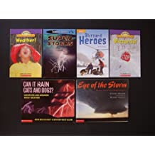 Weather Teacher Unit: Set of 6 Children's Picture Books (Can It Rain Cats and Dogs? Questions and Answers About Weather ~ Eye of the Storm: Chasing Storms with Warren Faidley ~ Super Storms ~ Blizzard Heroes (Leveled Reader) ~ Blizzards (Science Vocabulary Reader) ~ Weather! (Science Vocabulary Reader)~)