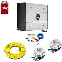 Wet Sounds HTX4 Package: 600 watt 4-channel amplifier & Stinger 3-Meter 4-Gauge Amplifier Wiring Kit w/RCAs