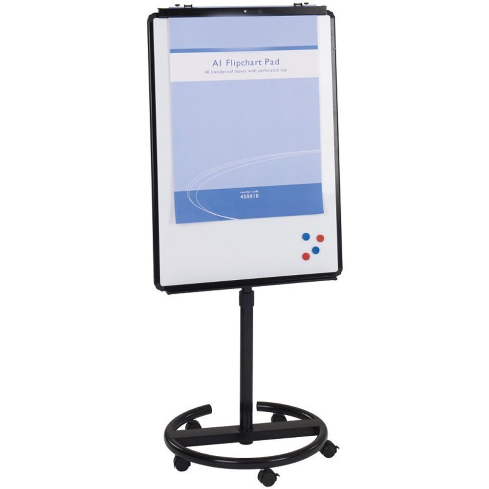 VIZ-PRO Mobile Weißboard / Flipchart - magnetisch, höhenverstellbar - 70 x 100 cm