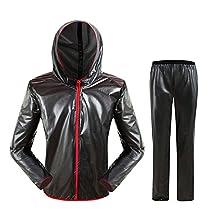 West Biking Women & Men's Outdoor Cycling Waterproof Jacket + Pants Raincoat Bicycle Rain Suit Bike Rain Jacket Rain Wear Breathable Dust Coat