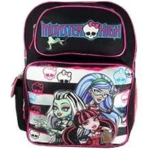 Full Size Black and White Stripe Monster High Backpack - Monster High Bookbag