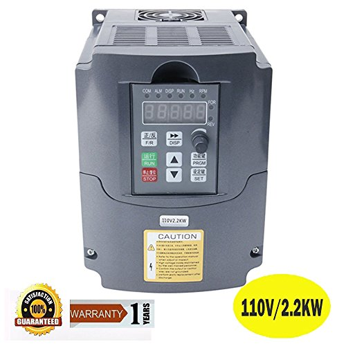 Mysweety cnc 110v 2 2kw 2200w variable frequency drive for Vfd for 3hp motor