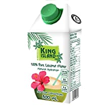 King Island 100-Percent Pure Coconut Water, 12-Count
