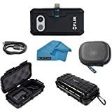 FLIR ONE Pro Thermal Imaging Camera Bundle With Rugged Waterproof Case and Cleaning Cloth (For Android MICRO USB)
