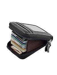portafolios de piel para hombre o mujer, con tarjetero, para tarjetas de crédito, portafolios