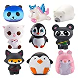 WATINC 6Pcs Jumbo Cute Animal Squishy Sweet Scented Vent Charms Kawaii Kid Toy , Lovely Stress Relief Toy, Animals Gift Fun Large(6p Animal Set)