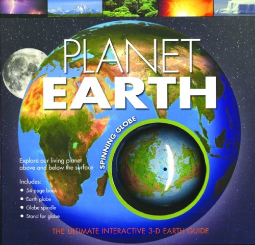 Spinning Globe: Planet Earth With Earth Globe, Spindle & StandWith ...