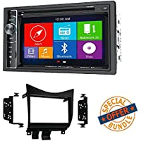 Power Acoustik Double Din AM/FM/DVD/BT 6.2-Inch with Navigation W/ Double DIN Installation Dash Kit for Honda Accord (Black)