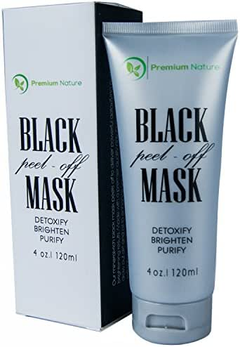 New Blackhead Remover Mask, 100% Natural Deep Detox Cleanser, Reduce Pores, Pimple & Acne, Absorbs Dirt & Oil, Brighten & Purify, By Premium Nature