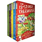 Treehouse Books Collection Andy Griffiths 5 Books Set (The 65-Storey, The 52-Storey, The 39-Storey, The 13-Storey, The 26-Sto