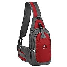 Sling Bag, MALEDEN Water Resistant Outdoor Shoulder Backpack Chest Unbalance Crossbody Bags for Women Men Girls Boys Travel Hiking Daypack
