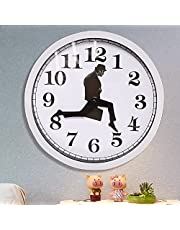Ministry of Silly Walks Clock, British Comedy Inspired Ministry of Monty Python Silly Walk Wall Clock, Comedian Home Decor Novelty Wall Watch, Creative Wall Clock for Home Office