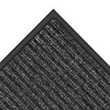 "NoTrax 109 Brush Step Entrance Mat, for Lobbies and Indoor Entranceways, 3' Width x 6' Length x 3/8"" Thickness, Charcoal"