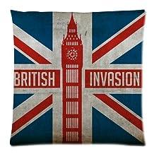 Vogue Decorative Vogue Decorative Custom Fashion The Union Jack British Flag Throw Pillow Cover Cushion Casess 18x18 (Twin sides)