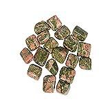 Tumbled By WholesaleGemShop - Genuine Unakite Tumbled Stones, Metaphysical Healing, Chakra Stone, Reiki, Gift