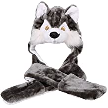 Simplicity ultifunction Animal Hats as Earmuffs, Scarf, Gloves, Eyes-Fox