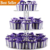 Cake Stand - 3 Tier Round Clear Acrylic Plastic Cake Stands for Display Cupakes on Wedding Birthday Treat Parties - DYCacrlic