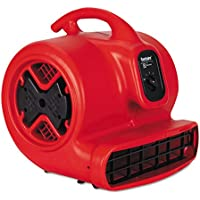 SANITAIRE SC6053 Commercial Three-Speed Air Mover, 1/2 hp Motor, 20 Ibs, Red/Black