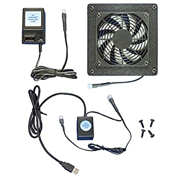 Computer U0026 AV Cabinet USB Controlled Cooling Fan System, With Multi Speed  Fan