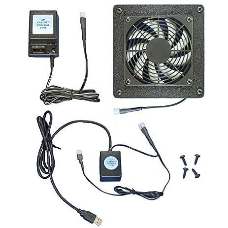 Computer U0026 AV Cabinet USB Controlled Cooling Fan System, With Multi Speed  Fan