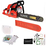 Garain 58CC 20'' Petrol Chainsaw 3.4 HP Gas Powered Woodcutting Saw 2 Stroke, Carry Bag, 23pc Tool Kit