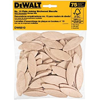 DEWALT DW6810 No. 10 Size Joining Biscuits (75 Pieces)