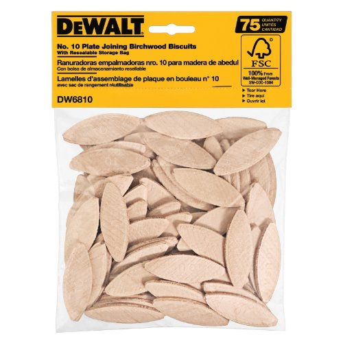 DEWALT DW6810 No. 10 Size Joining Biscuits (75 Pieces) ()