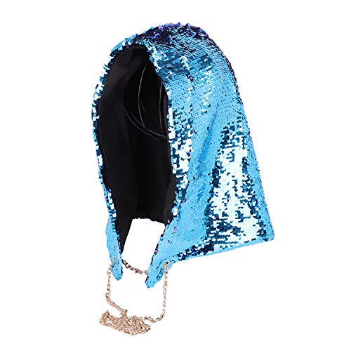 Party Hats Mermaid Festival Hoodie Clubwear Costume Fashion Reversible Sequin Hood Rave Hood Halloween Xmas Magic Music Sequins Hippie Hood Caps Rave Hood Spirit Hood Clothing Cap Party Bling Hat]()