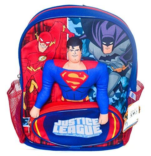 Superman Justice League Plush Blue Backpack Bookbag School Bag - Rucksack Justice