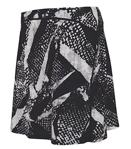 Women Golf Short Skirt Sports Fitness Active Skort with Inner Shorts Ink Print L