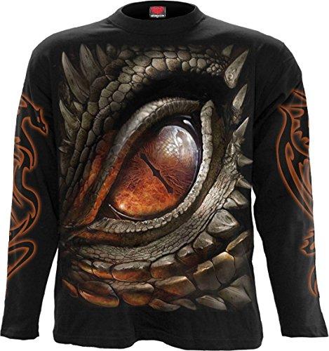 Spiral - Mens - Dragon Eye - Longsleeve T-Shirt Black - L (Best Cheap Mens Clothing Websites Uk)