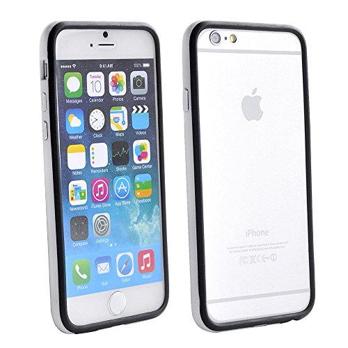 Iphone 6/6s Silicon Bumper White Black by G4GADGET®