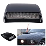 Pair of Air Intake Hood Net Scoop Bonnet Vent Black Car Vehicle Air Flow Cover Decorative