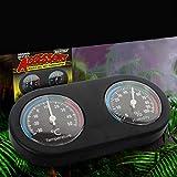 iUnisy Black Double Display Dial Reptiles Hygrometer