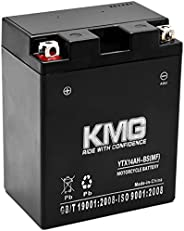 KMG Battery Compatible with Kawasaki 300 KLF300-B Bayou 1988-2004 YTX14AH-BS Sealed Maintenance Free Battery H