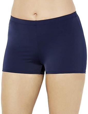 3322d7523e Amazon.com: Swimsuits for All Women's Plus Size Boy Short Lycra Swim  Bottom: Clothing