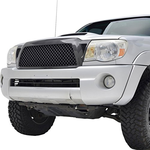 (Tidal Tacoma ABS Replacement Grille With Shell for 05-11 Toyota Tacoma - Carbon Fiber Look)