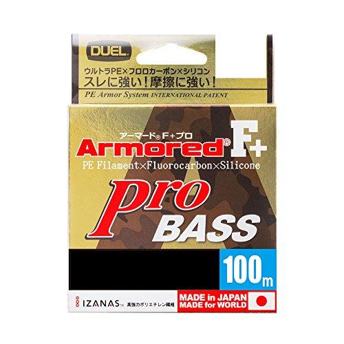 デュエル(DUEL) ライン ARMORED F+ Pro BASS 100m 1.0号 H4155の商品画像