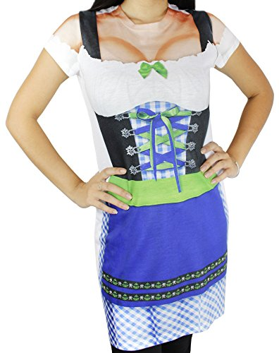 Oktoberfest T-Shirt - Women's Oktoberfest Costume - Blue]()