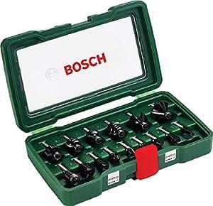 Bosch 2607019469 - Pack de 15 fresas con inserción de 8 mm