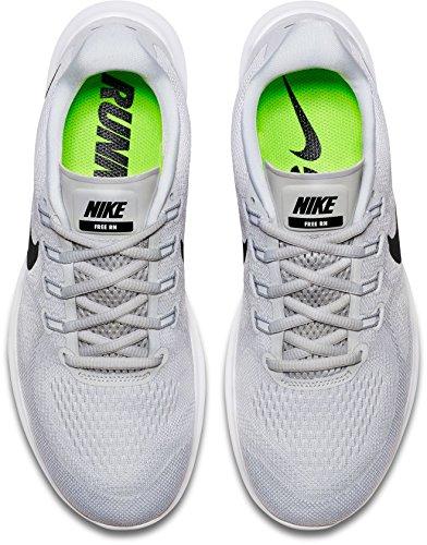 Scarpa Da Corsa Uomo Nike Free Rn 2017 (bianco / Nero / Platino Puro, 7.5)