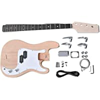 SWAMP DIY Build Your Own Electric Precision Bass Guitar Kit Basswood Body Maple
