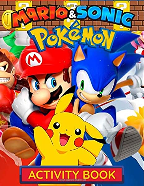 Sonic Mario Pokemon Activity Book Jumbo 3 In 1 Activity And