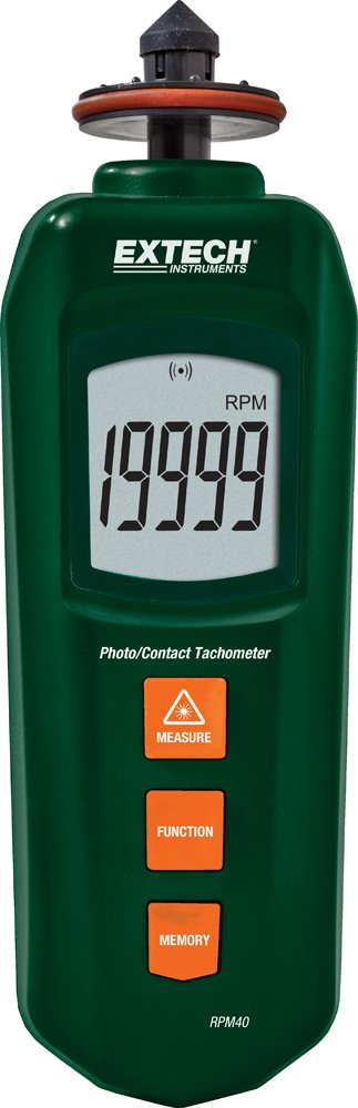 Extech RPM40 Pocket Contact and Laser Photo Tachometer