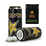 Rockstar Energy Drink Diversion Safe Stash Can 16 oz w HumanFriendly Smell-Proof Bag