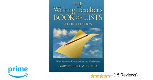 Amazon.com: The Writing Teacher's Book of Lists with Ready-to-Use ...