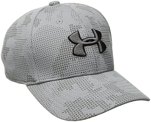 Under Armour Boys' Printed Blitzing Cap, Steel (036)/Graphite, Youth Small/Medium (Under Armour Youth Cap)