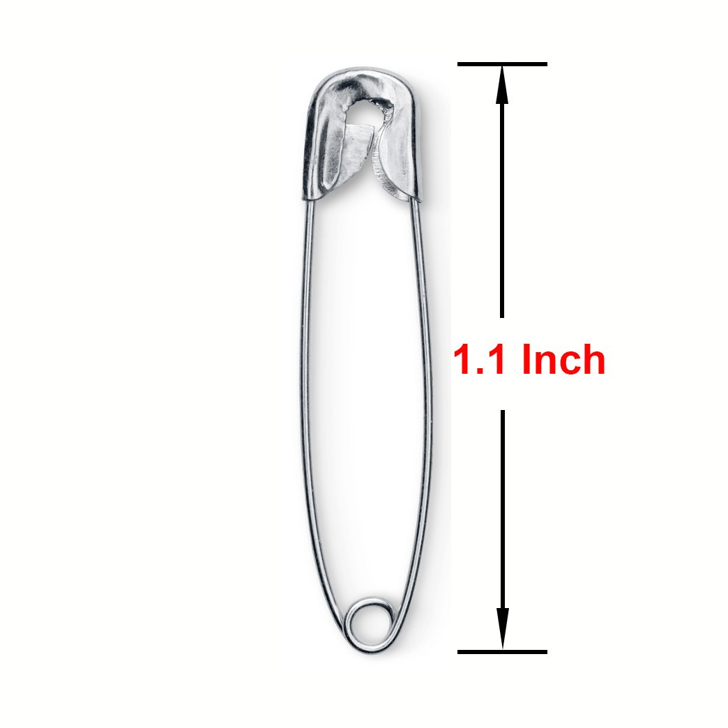 Fashion Marathon Pack of 1440 Mighty Gadget Silver Safety Pins for Home Craft Pins Office Use Sport Events Sewing Pins 1.1 inch Safety Pins Bulk Fabric